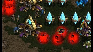 EPIC - Devil (Z) v Violet (P) on Heartbreak Ridge - StarCraft  - Brood War REMASTERED 2019