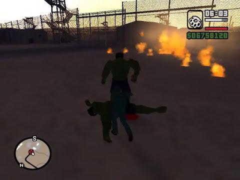 GTA San Andreas - The Incredible Hulk mod + Download