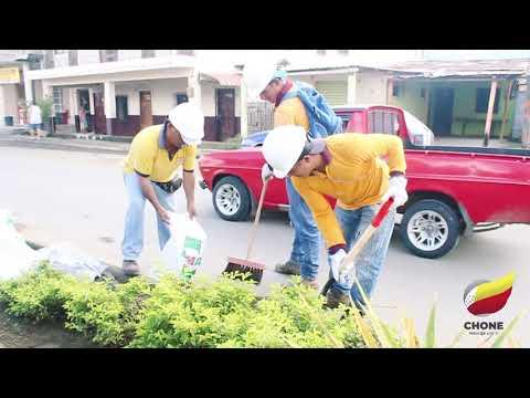 Trabajos de limpieza en Av. Carlos Alberto Aray