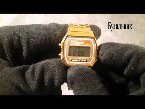 Полный Видеобзор часов CASIO A159W. Как настроить. Как уменшить ремишок.