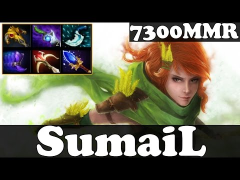 Dota 2 - SumaiL 7300MMR Plays WindRanger vol 3 - Ranked Match Gameplay
