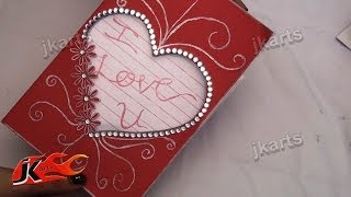 DIY How To Make Valentine's Day Greeting Card - JK Arts 123