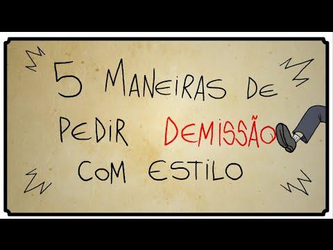 5 MANEIRAS DE PEDIR DEMISSÃO COM ESTILO