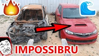 Flooded SUBARU STI IMPOSSIBLE Rebuild attempt PART 1 CRRISPY FIRE DAMAGE SAVES THE DAY