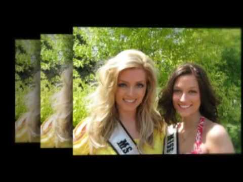 Britta Thostrup, Miss Wisconsin Teen Galaxy 2009 and Laura Buhman, ...