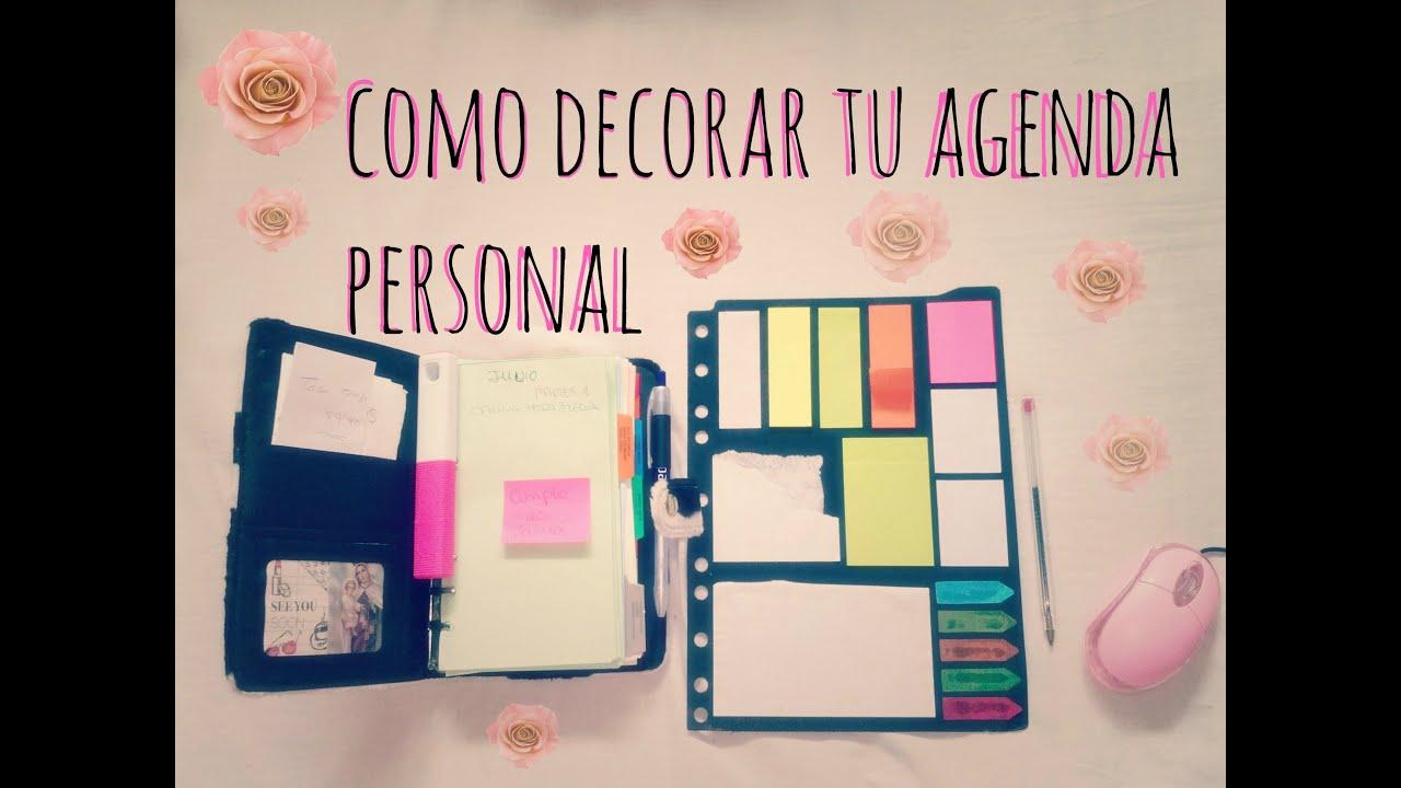 Tips decora el interior de tu agenda cuardernos libros - Como decorar tu ...