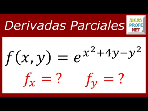 Derivadas parciales de una función exponencial-Partial derivatives of an exponential function