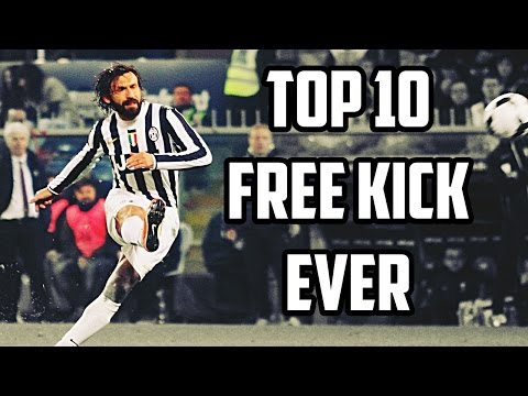 Andrea Pirlo - Top 10 Free Kicks Ever | 1080p HD
