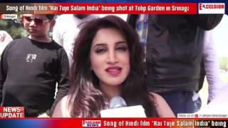 Song of Hindi film 'Hai Tuje Salam India' being shot at Tulip Garden in Srinagar