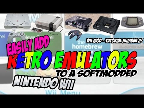 Wii Softmod ADDING RETRO EMULATORS - All you need, Simple to do!