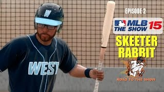 MLB 15 The Show (PS4) Skeeter Rabbit (CF) Road To The Show EP2 (MLB Draft & AA Debut)
