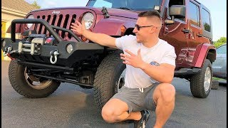 CHEAP JEEP IS BACK! Wheels/Tires and 10,000LB Winch Install!!! (UNDER $300)