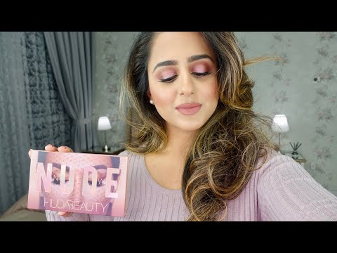 WORTH IT?   GRWM   NEW HUDA BEAUTY PALETTE   REVIEW + GIVEAWAY 2018!!   HADIA
