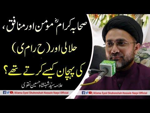 Sahaba-e-Karam Momin aur Munafiq ki Pechan kesey karte the? by Allama Syed Shahenshah Hussain Naqvi