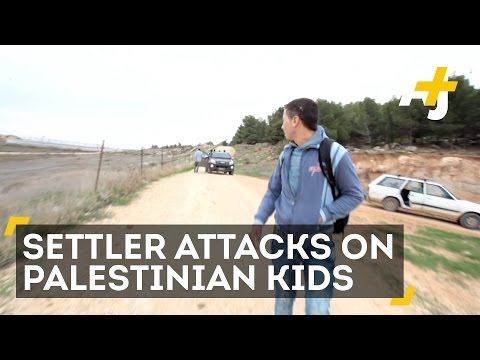 Palestinian Kids Dodge Settler Attacks