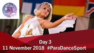 Day 3 | World Para Dance Sport European Championships | 2018 Lomianki