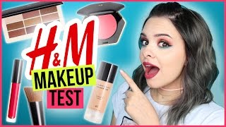 H&M MAKEUP im LIVE TEST! - Full Face Using ONLY H&M Makeup / REVIEW