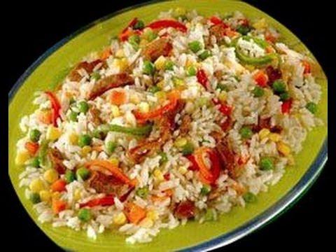 Arroz con verduras dominicano 2013 youtube - Ensalada de arroz light ...