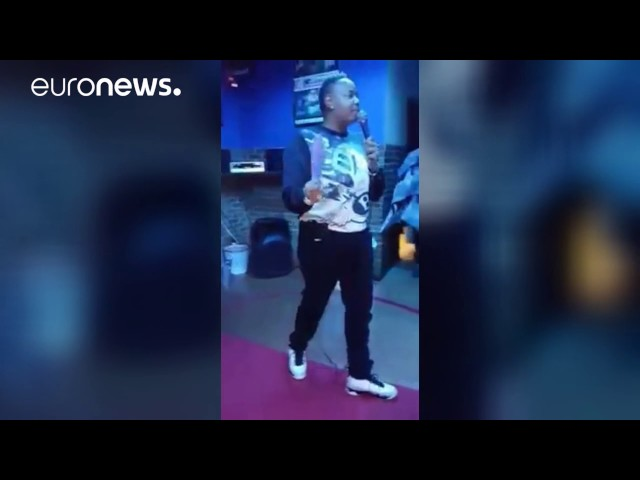 Comedian caught in shooting crossfire during gig