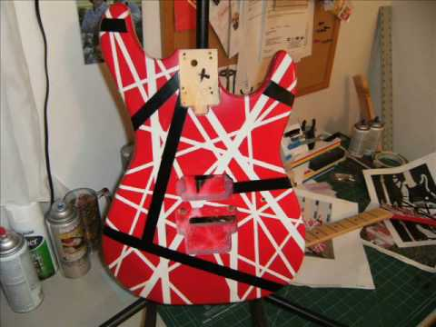 HOW TO PAINT A 5150  VAN HALEN GUITAR  PROJECT EVH PART 2 OF 3