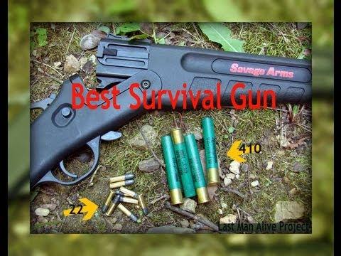 Best survival gun. Savage Model 42 combination gun. a 22 over .410 shotgun (Last Man Alive Project)