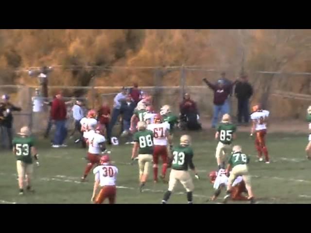 11-3-12 - Mitch Tormohlen's 10 yard run ties the game (Brush 19, Manitou Springs 19)