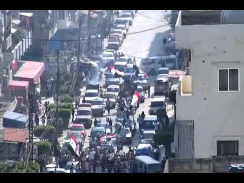 Demonstration for President Bashar Al assad