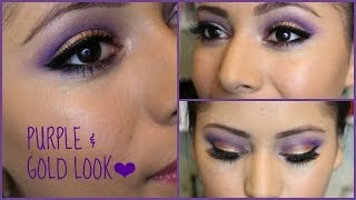 Purple & Gold Look