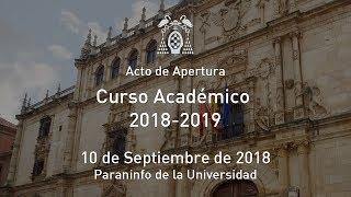 Solemne Acto de Apertura del Curso Académico 2018-19 · 10/09/2018