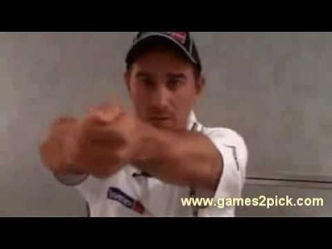 Justin Langer pull shot Cricket