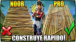 APRENDE A CONSTRUIR COMO UN PRO! GUIA DEFINITIVA PARA CONSTRUIR MAS RAPIDO EN FORTNITE BATTLE ROYALE
