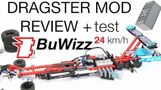 24 km/h BuWizz test + review 42050 Dragster mod