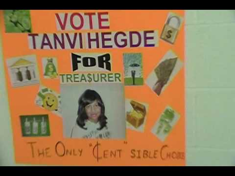 Tanvi Hegde Election Poster for treasurer to the student council ...