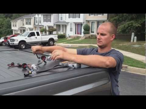 Installation of Xenon HID 55W 6000k Fog Light kid on 2011 Ford F250