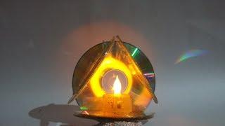 How To Make CD LED Lamp
