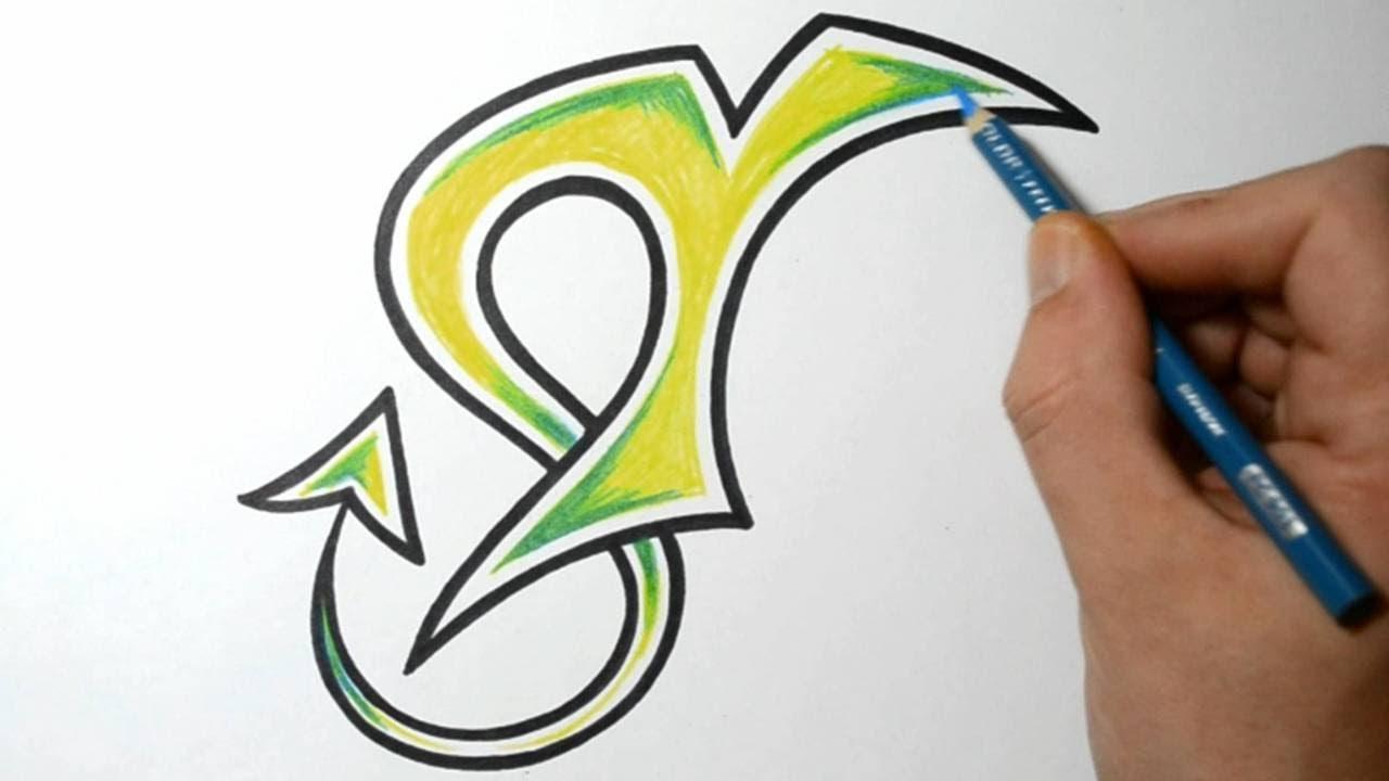 Y Graffiti Letters Wild Graffiti Letters - T