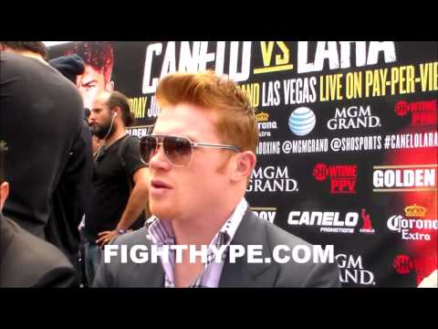 CANELO EXPECTS LARA TO BE MOVING ALL OVER THE PLACE BUT SAYS HE HAS THE ARSENAL TO WIN