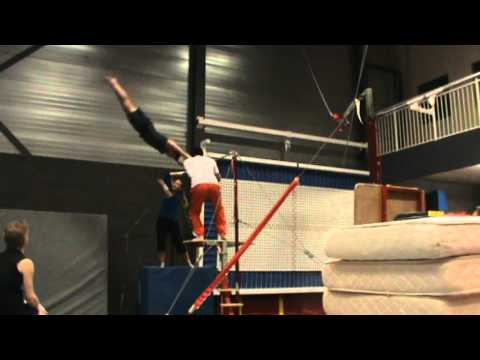 60 year old gymnast doing  for the first time a giant swing on the high bar