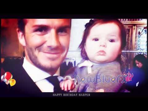 Harper Beckham 1st Birthday Happy 1st Birthday Harper