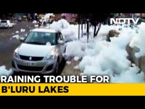 Foam Back In Strength In Bengaluru's Varthur Lake, Sprays Motorists