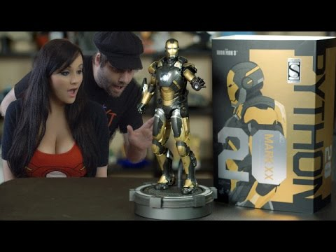 Iron Man Mark XX Python Figure from Hot Toys Unboxing