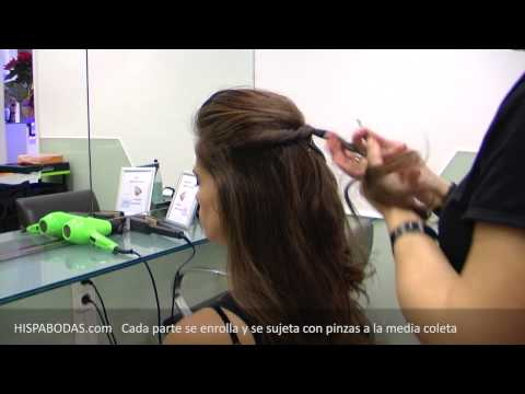 Peinados para Novias: Semirecogido con Bonito Aplique de Cabello