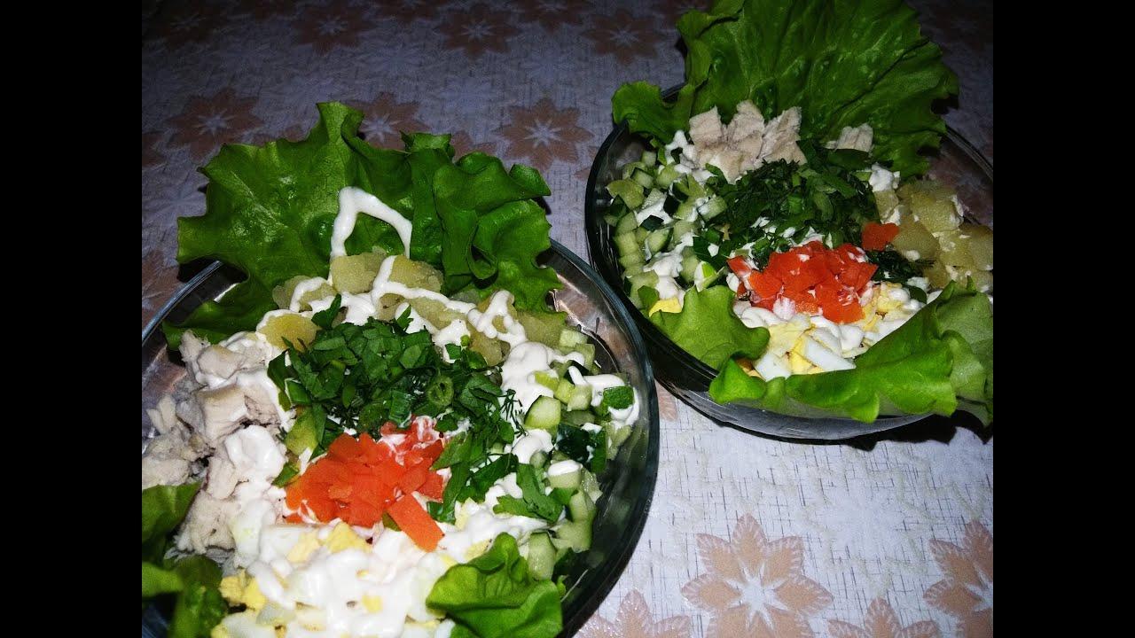 Пошаговое фото мясных салатов