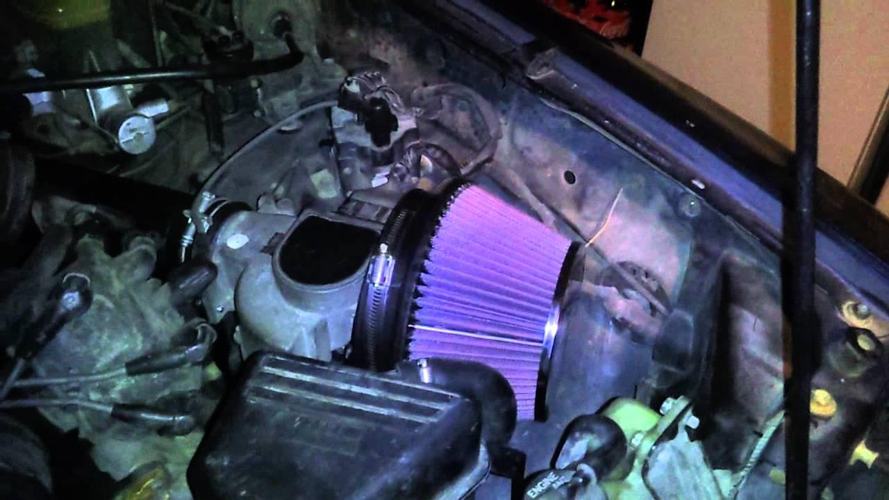 93 Toyota Pickup V6 With K Amp N Air Intake Youtube