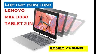 LENOVO MIIX D330 UNBOXING DAN REVIEW Laptop 2 In 1 Paling Work it - Pomed Channel