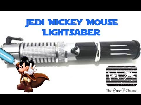 Jedi Mickey Lightsaber Review | Star Wars Disney World and Disneyland | The Dan-O Channel