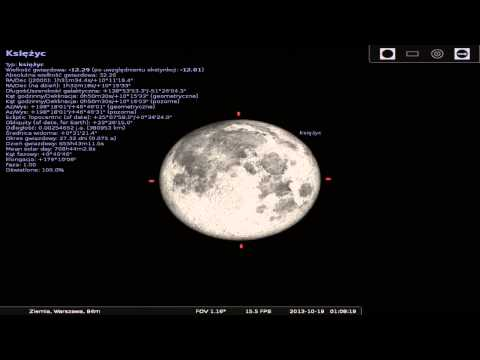 Symulacja półcieniowego zaćmienia Księżyca 18/19 październik
