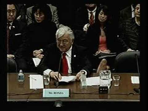 "Congressman Honda testifies in support of ""comfort women"""