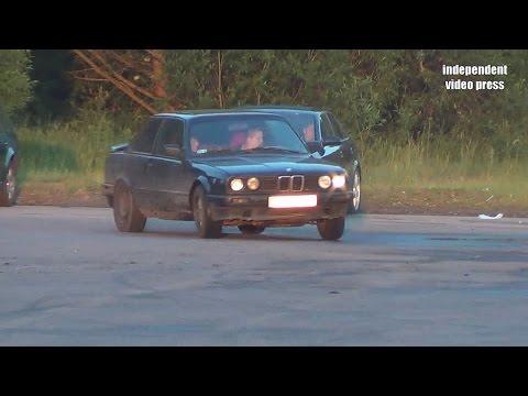 Drifting I Stłuczka BMW Z Audi Na Lotnisku Krywalny Białystok - 21.06.2015