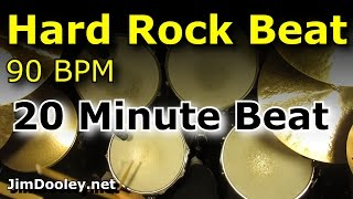 Drums Only Backing Track - Hard Rock Beat 90 BPM Drum Loop Excerpt